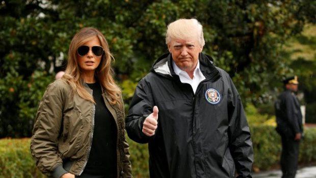 Melania Trump luce outfit muy fashion para visitar a los afectados por el huracán Harvey