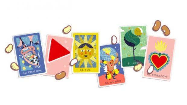 """Google le dedica un Doodle muy creativo a la """"Lotería"""" el famoso juego de mesa mexicano"""